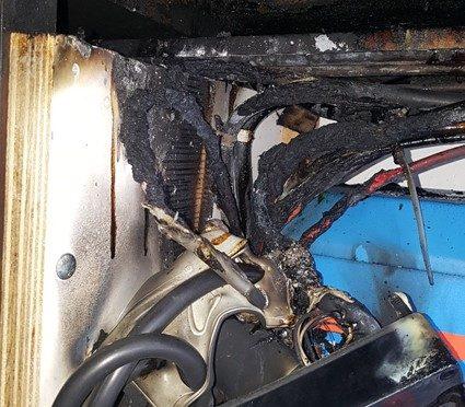 Brand in de Motorruimte